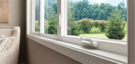 thin frame vinyl casement windows style  milgard