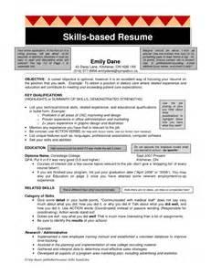 skills based resume template free resume templates