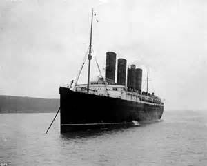 where did the rms lusitania sink luxury liners meet in southton to cunard s 175th