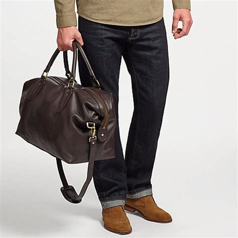 buy john lewis oxford leather explorer holdall brown