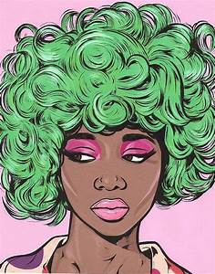 Green Kawaii Comic Girl Print | Pop art, Girls and Beauty room