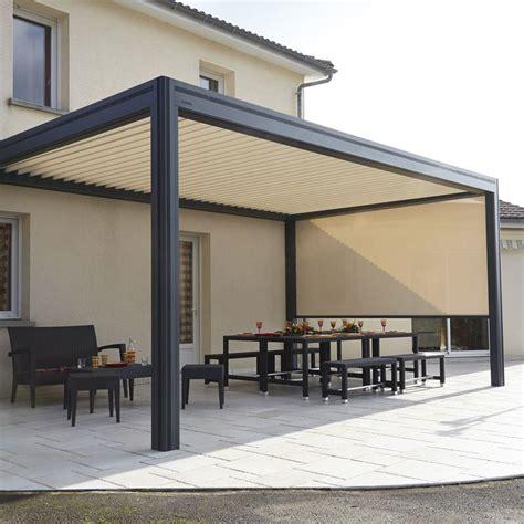 tonnelle adossee modulable avec store enroulable les 25 meilleures id 233 es concernant store pergola sur store terrasse bar patio et