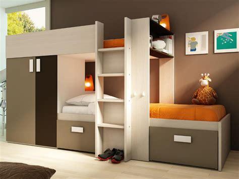 lits superpos 233 s julien 2x90x190cm armoire int 233 gr 233 e 3 coloris avec ou sans matelas