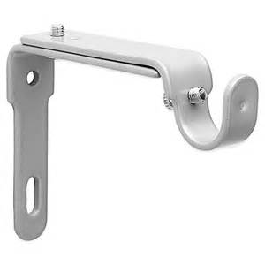 umbra 174 nickel 2 drapery rod brackets bed bath beyond