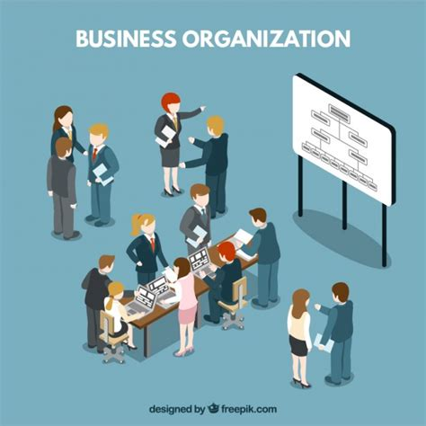 Organization Business by Business Organization Situation Vector Free