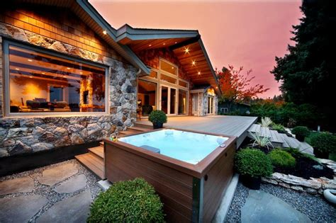 luxury outdoor living ideas  hot tubs  spa diy motive