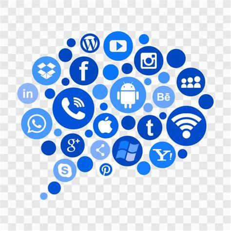 Social Media Icons Vector Blue Social Media Icons Vector Free
