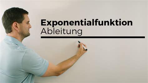 exponentialfunktion ableitung ableiten  funktion
