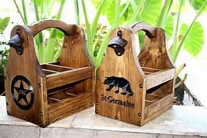 Wooden Beer Tote Personalized Beer Tote Handmade Beer Tote ...