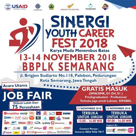 sinergi youth career fest  lowongan kerja semarang