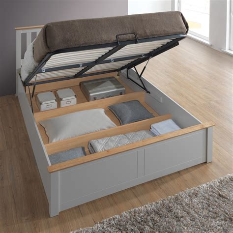 Storage Bed Ottoman by Pearl Grey Wooden Ottoman Storage Bed