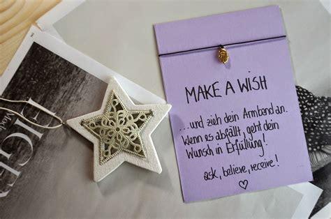 weihnachtsgeschenk beste freundin diy make a wish armband das perfekte geschenk