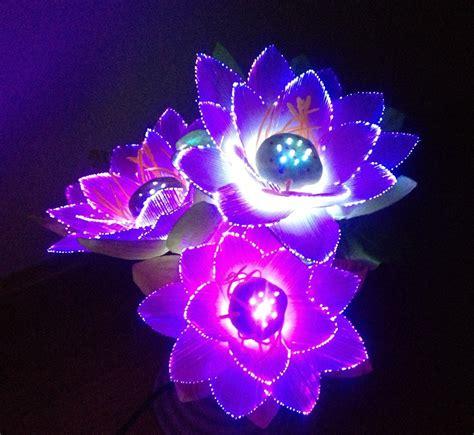 aliexpress com buy led flower lights lotus light buddha