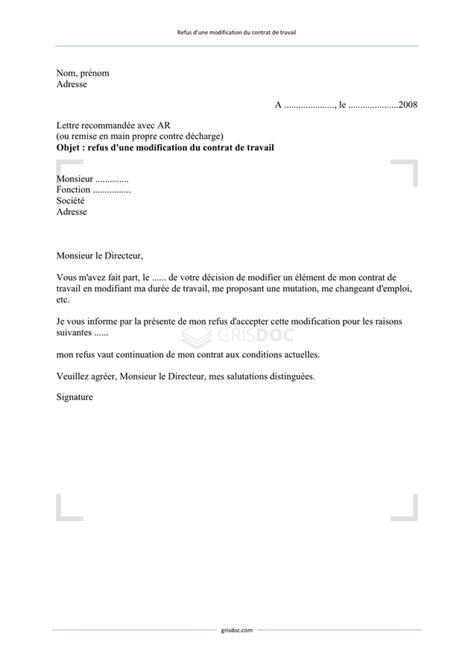 Modification Du Contrat De Travail En by Modification De Contrat De Travail