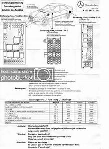 No 4661  2001 Mercedes C320 Fuse Box Diagram Likewise