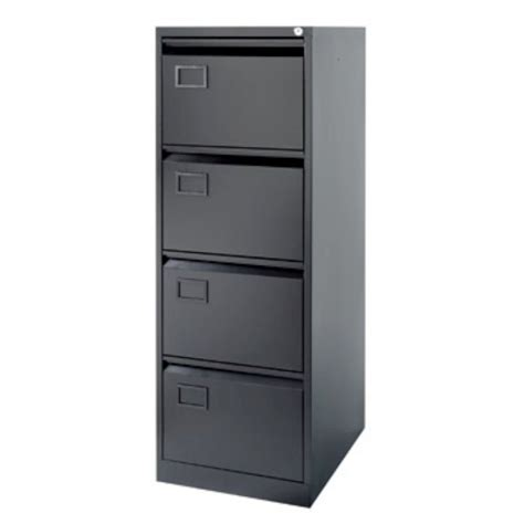 4 Drawer Foolscap Filing Cabinet, Black   Staples®