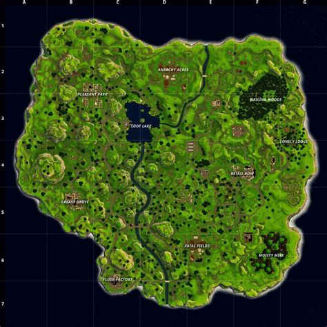 fortnite battle royale map shows   locations