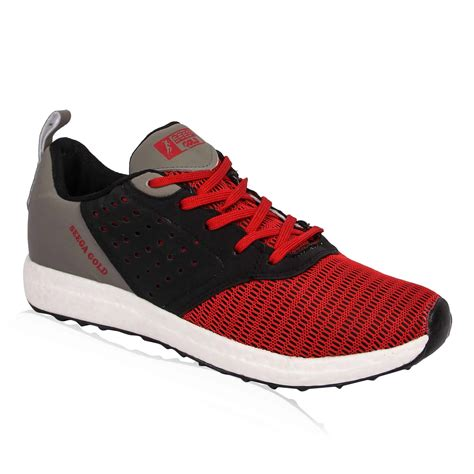 Bugatti shoes offer a perfect fit for all day comfort. Seega Gold Ronaldo Red-Grey Men Running Shoes | Online ...