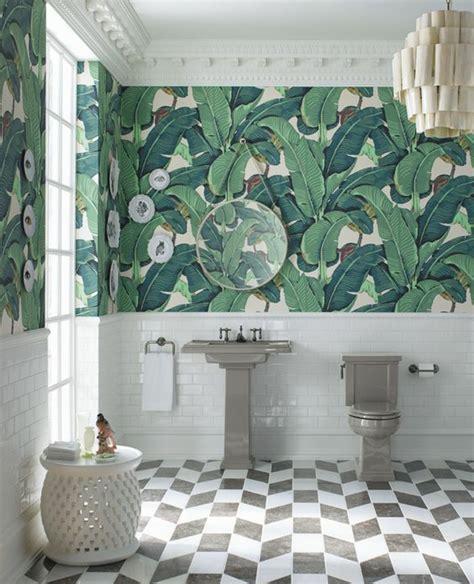 salle de bain papier peint 1001 mod 232 les de papier peint tropical et exotique