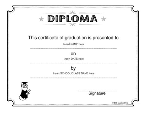 diploma template high school diploma high school diploma word template