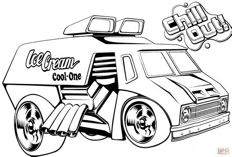 Coloring Pages Monster Trucks Hot Rods Coloring Pages