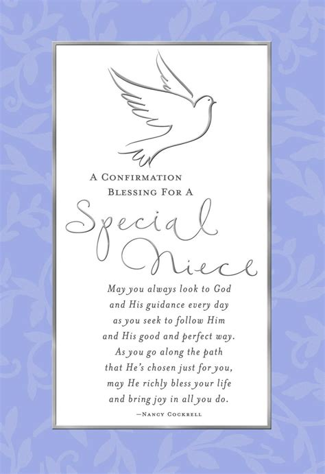 special thoughts  niece confirmation card greeting