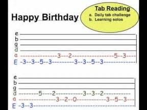 Happy Birthday Guitar Tab