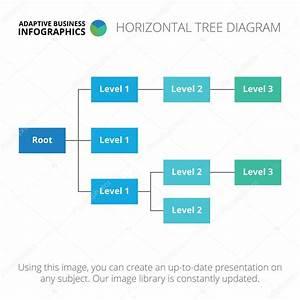 Horizontale Boom Diagram Sjabloon 1  U2014 Stockvector  U00a9 Redinevector  85663128