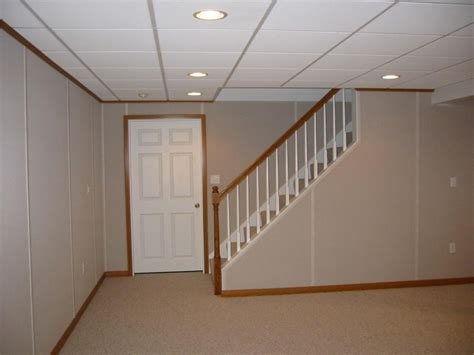 Drop Ceiling Options For Basements by Ideas For Finish Basement Wall Paneling Jeffsbakery