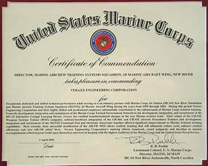usmc certificate of recommendation sample gallery With usmc certificate of commendation template