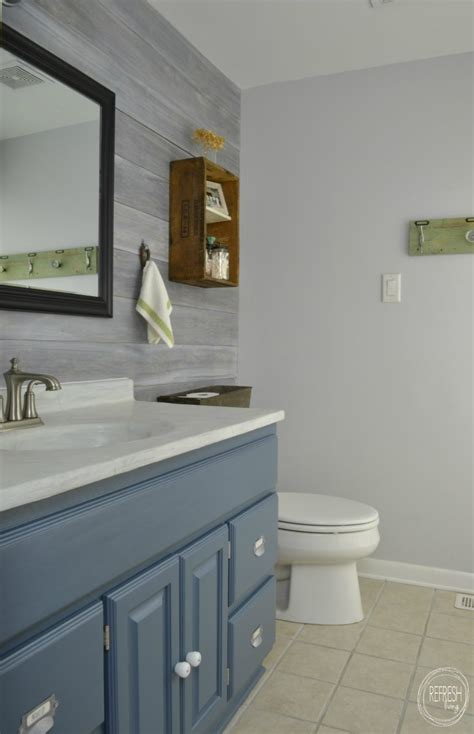 vintage rustic industrial bathroom reveal refresh living