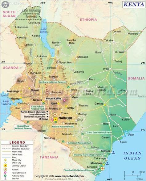 map  kenya travelquazcom