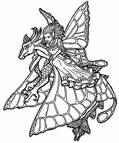 Coloring Cool Pages Fairy Templates Template Colouring