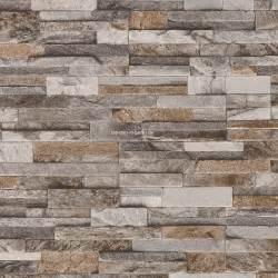steinwand grau tapete steinoptik wohnzimmer grau dumss