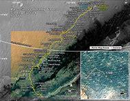 Mars Rover Curiosity Traverse Map