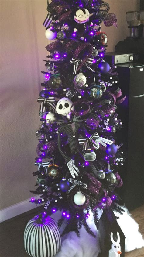 black  purple christmas tree decor homemydesign