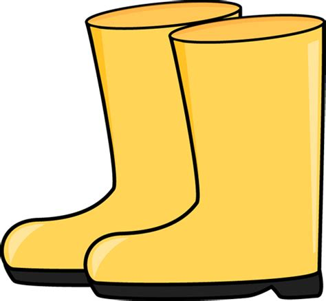 library  yellow rain boot clipart transparent