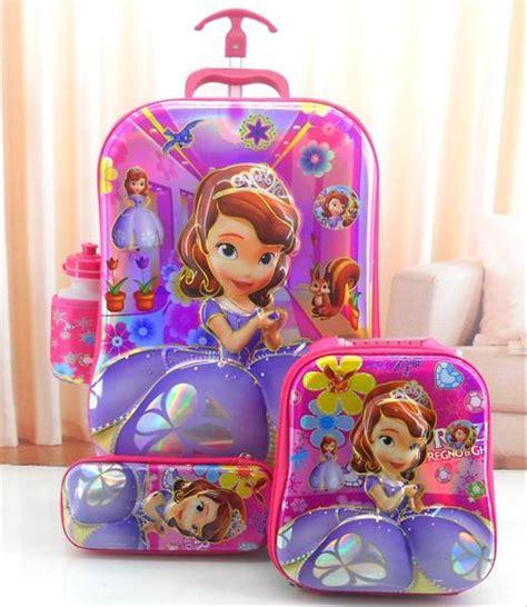 jual tas troli anak 6d princess sofia pink 4 in 1 barang