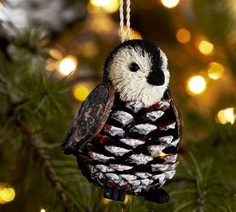 pinecone critter ornament penguin christmas basteln