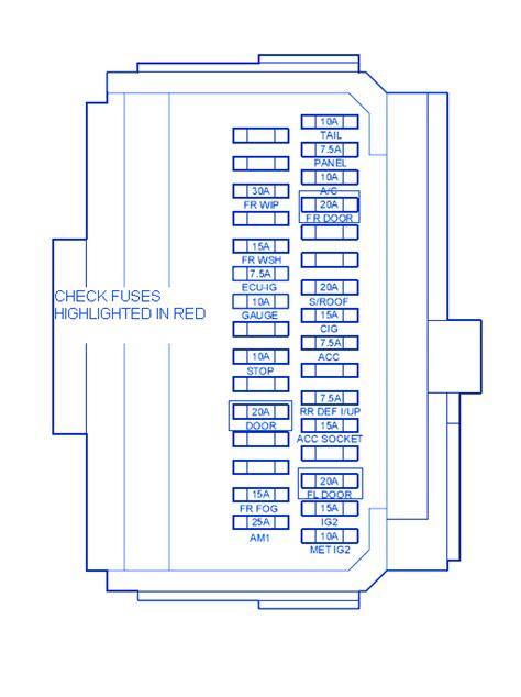 2006 Scion Xb Fuse Diagram by Scion Xb 2009 Engine Fuse Box Block Circuit Breaker