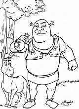Shrek Coloring Pages Babies Popular Colouring sketch template