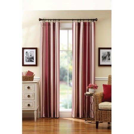 better homes and gardens curtains better homes and gardens casual striped curtain panel