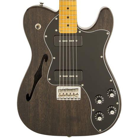fender modern player telecaster thinline deluxe black dawsons