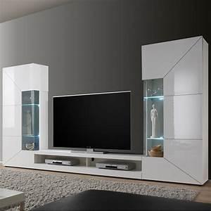 Tv Wand Weiß : wohnwand mediawand 2e wei hochglanz lowboard vitrinen wandboards medienh nger ebay ~ Sanjose-hotels-ca.com Haus und Dekorationen