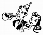 Retro Images - Party Time - New Years - The Graphics Fairy