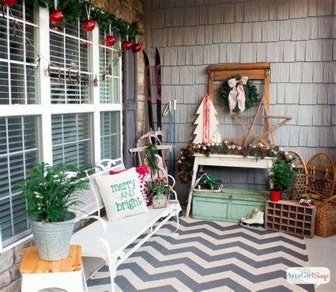 vintage christmas decorating ideas   porch