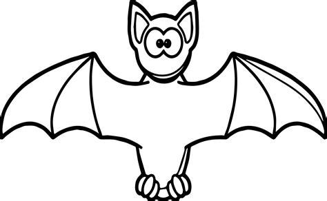 Bat Clipart Coloring Book 4