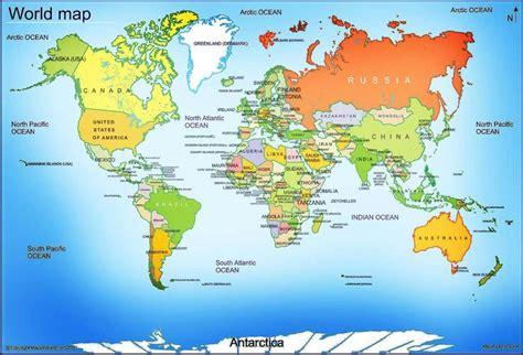 world map  large images  printable world map