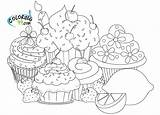 Coloring Pages Cupcake Cupcakes Cute Cup Sheets Adult Kawaii Adults Cakes Coloriage Pour Sweet Activity Detailed Children Colors sketch template