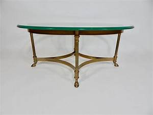 mid century weiman brass and glass coffee table for sale With weiman coffee table